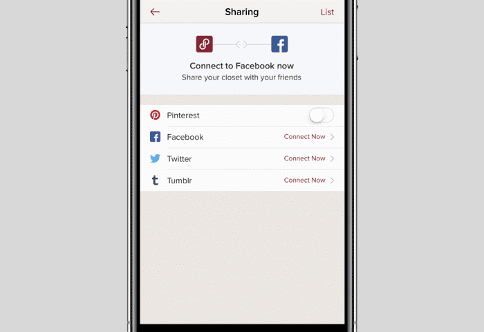 screenshot of how to share for selling on poshmark