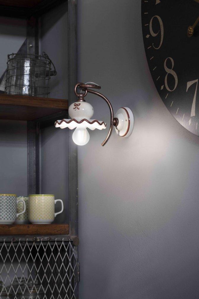 Lampade da parete per la cucina in stile classico