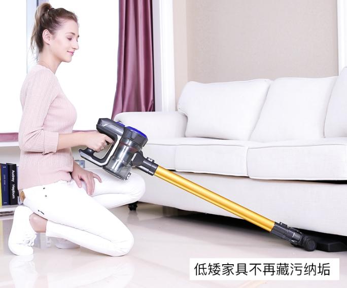 Dibea地贝家用车载小型手持除螨D18,低矮家具也能清潔到位