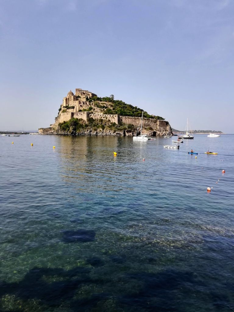The Aragonese castle from the sea