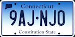 Image of the Connecticut state license.