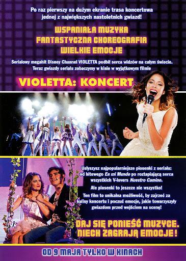 Tył ulotki filmu 'Violetta: Koncert'