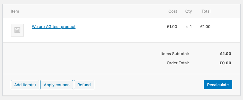 woocommerce invoice test