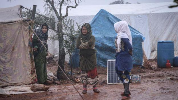 беженцы в Идлибе, 28 декабря