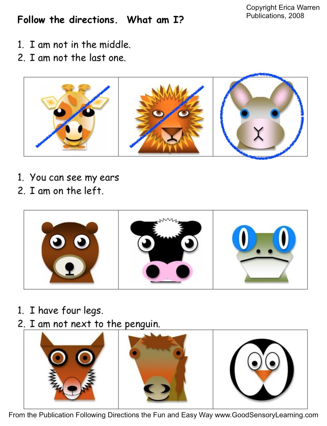 Following directions the Fun and Easy Way Primary