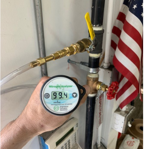 Nitrogen analyzer at 99.4