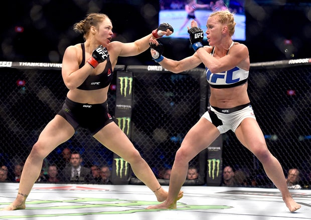 Ronda and Holly fighting