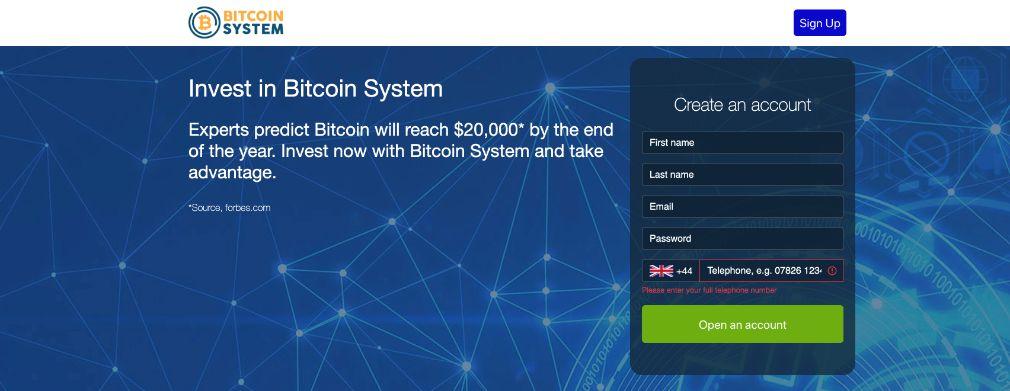bitcoin system-trading platform