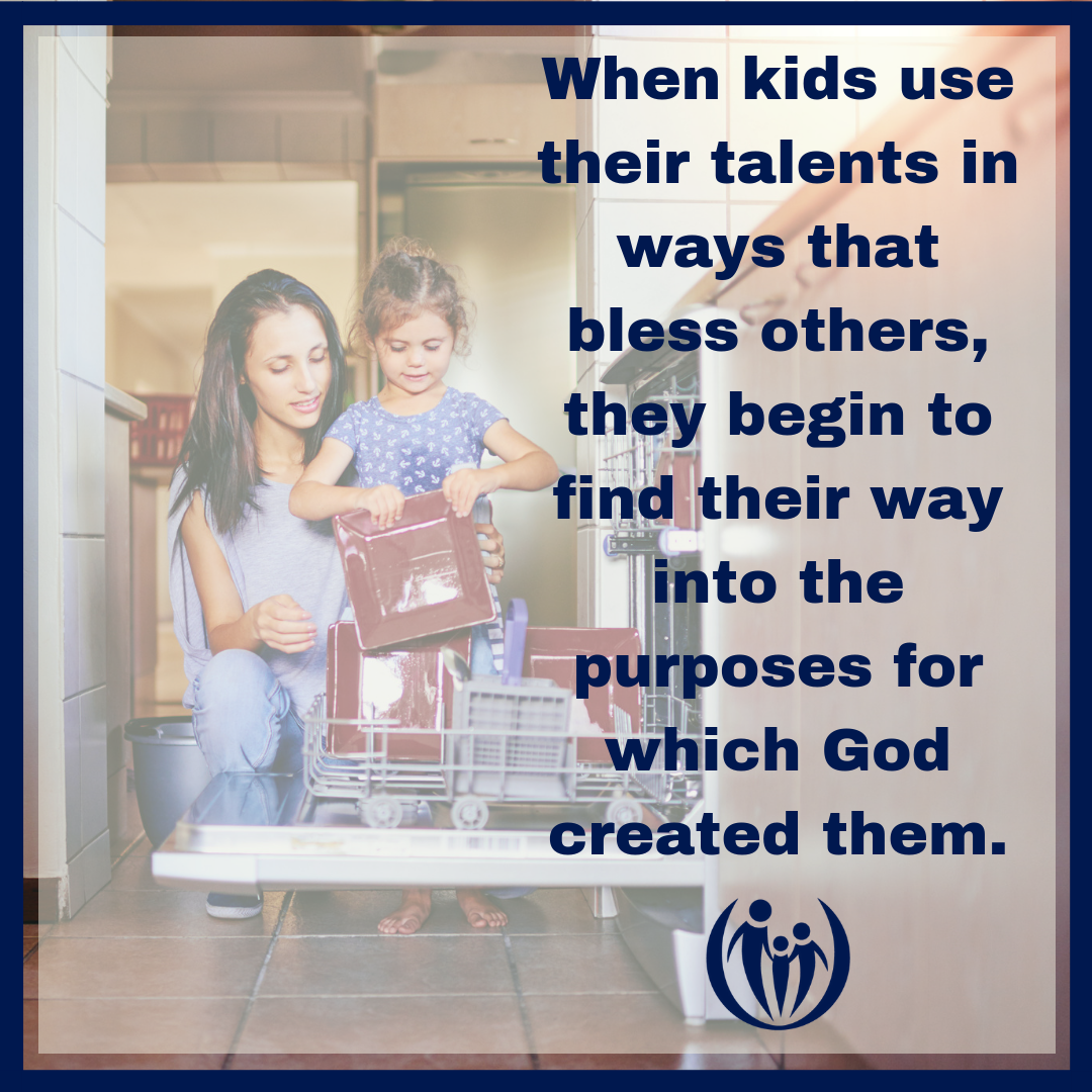 Teach your child to bless others.