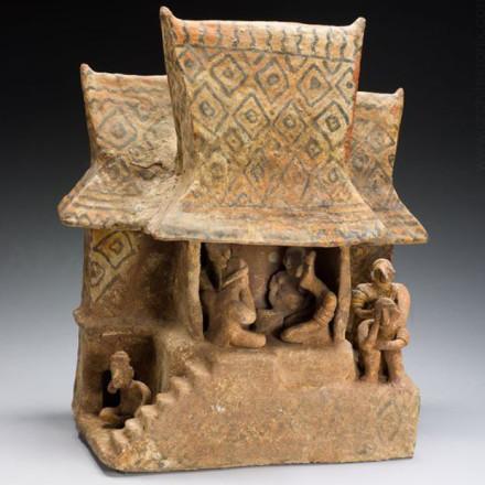 Pişmiş toprak ev modeli. Nayarit, MÖ 100 M.Ö -. 300 N. e.