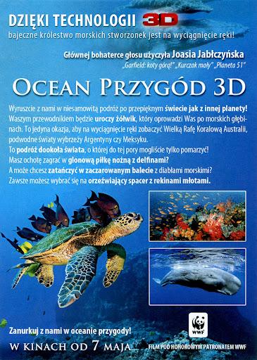 Tył ulotki filmu 'Ocean Przygód 3D'