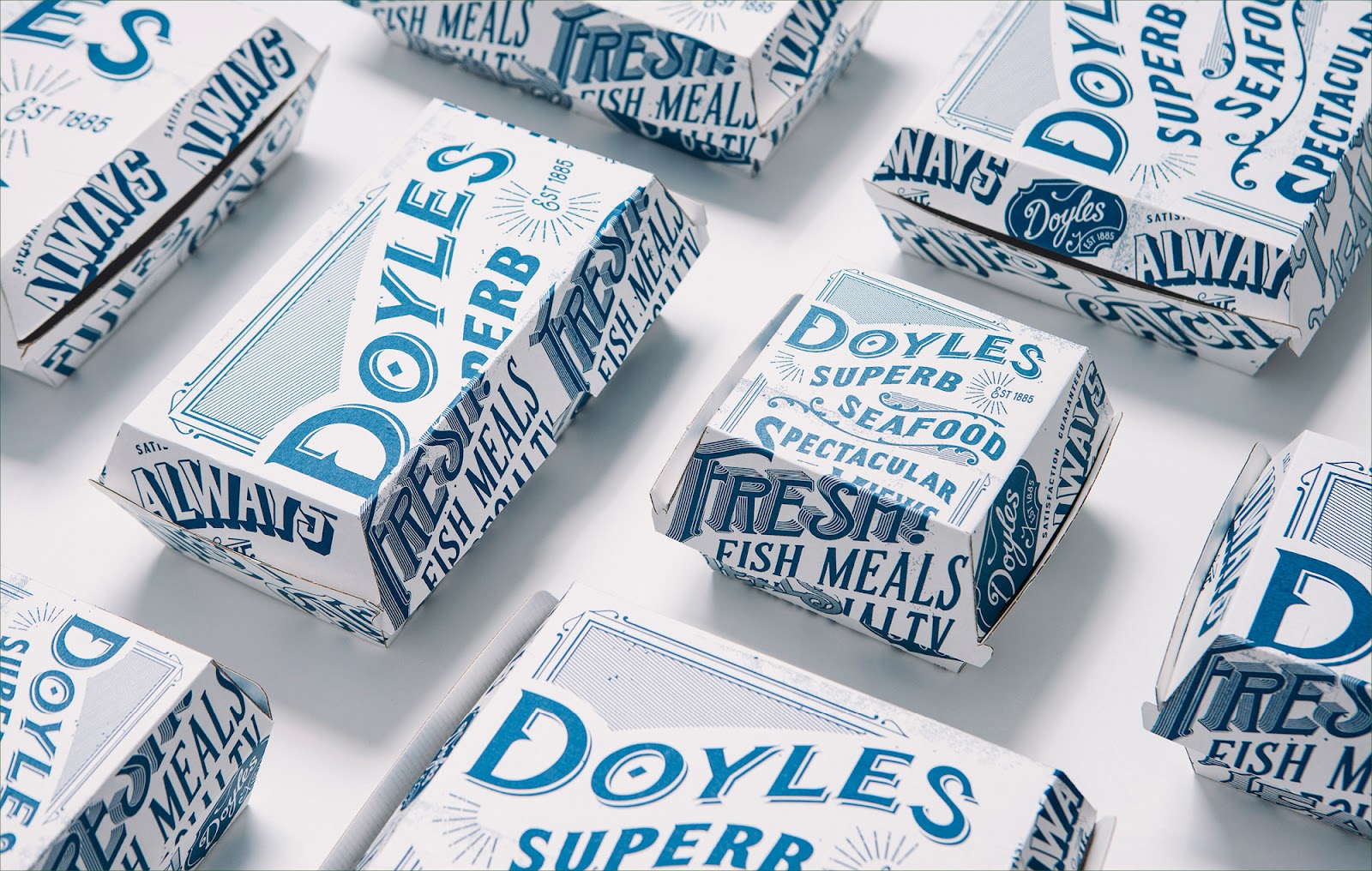 Doyles on the Beach wanted to update their brand design and food packaging to appeal to a younger audience, whilst retaining the heritage of the brand