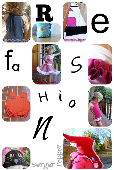 Serger Pepper - Guest Post on Titicrafty.com - Refashioning FAQ - collage