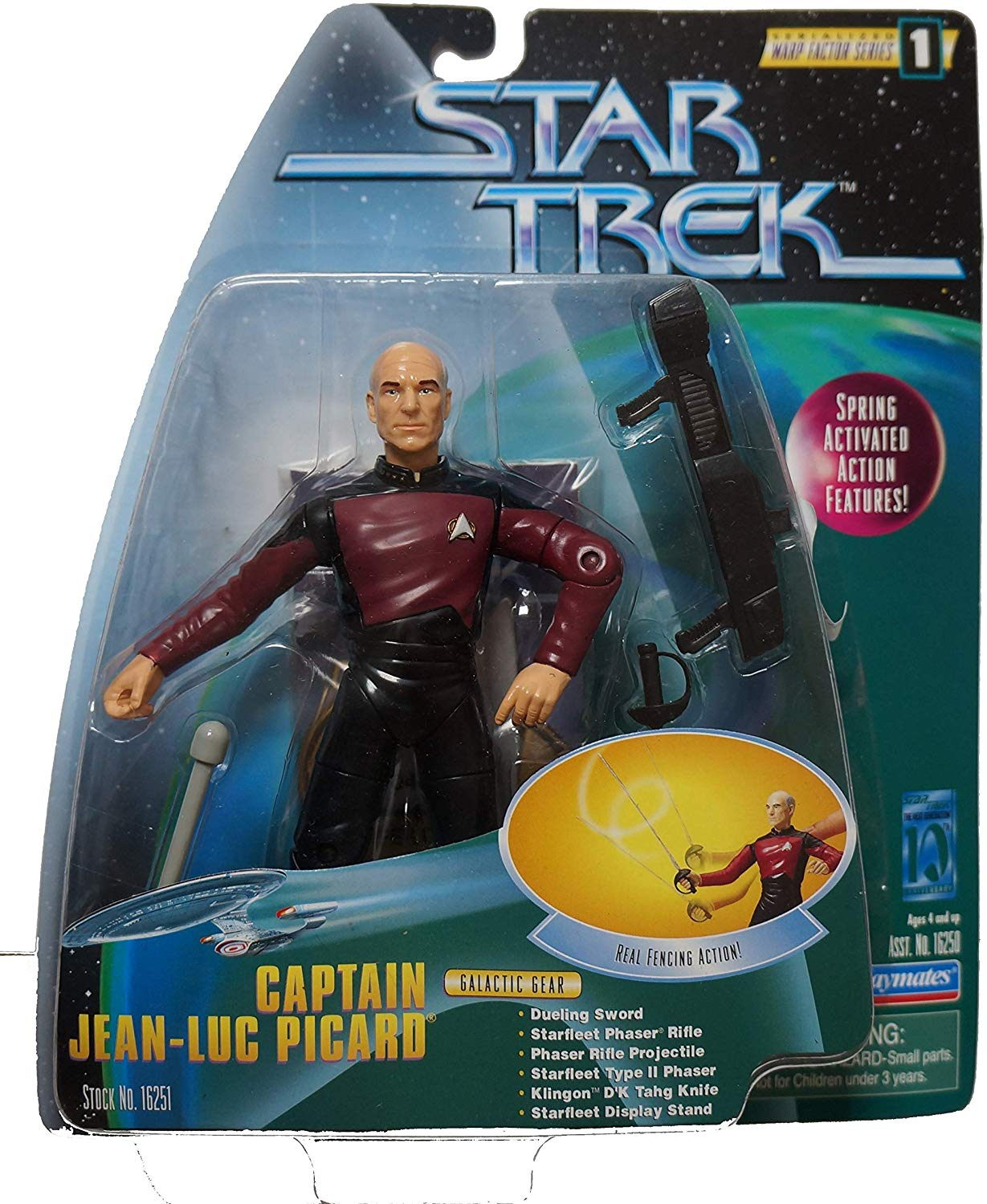 Captain Picard fencing figurine