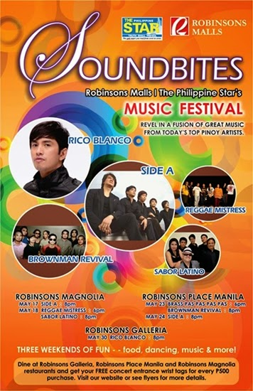 announcement, events, music, music, weekends, Where-to-Weekend, concerts, Robinsons Malls