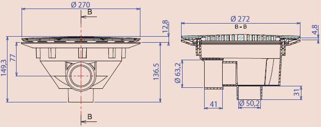 dimensions bonde de fond BL311 Aquareva