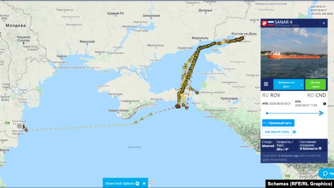 Шляхи п'яти танкерів Sanar