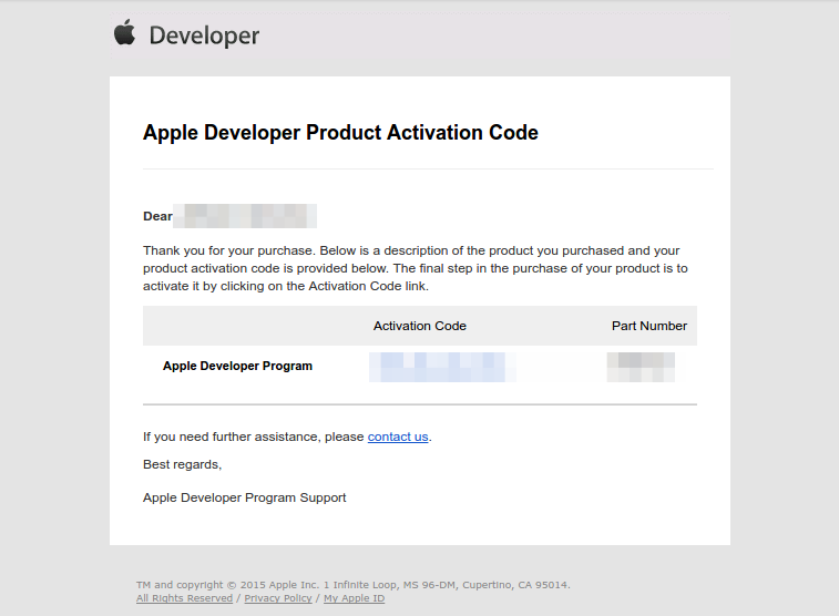 Besides the confirmation email also receive an activation code (as shown in the example below), do not forget to use it.