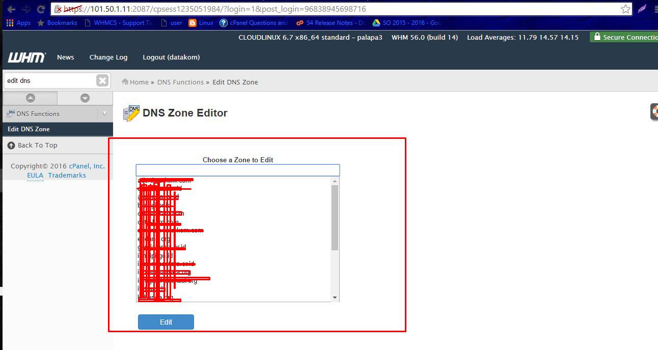 Mengedit DNS Zone Domain