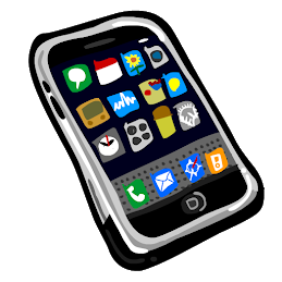 [Image is a sketch of a smartphone open to a home page with many apps.]