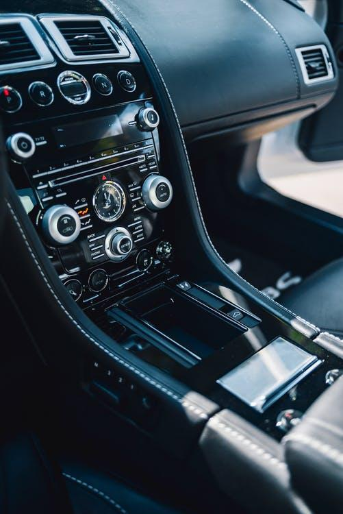 Black Car Gear Shift Lever