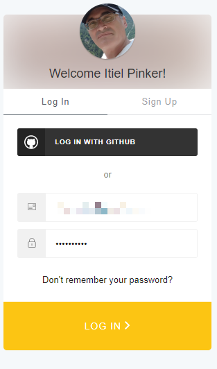 Login with email