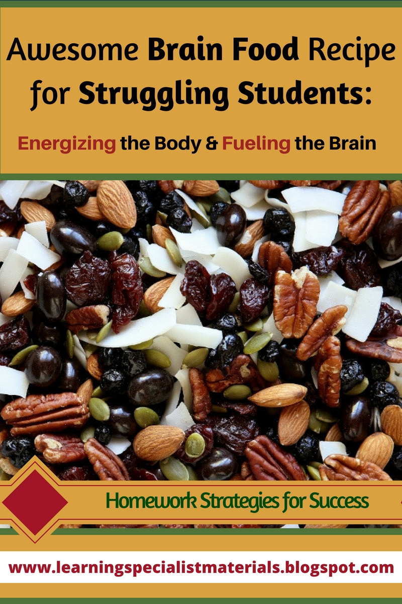 Awesome Brain Food Recipe for Struggling Students: Energizing the Body and Fueling the Brain