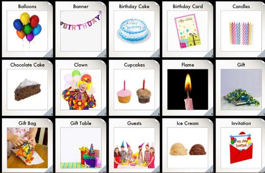 Từ vựng tiếng Anh lớp 4 theo chủ đề ngày sinh nhật