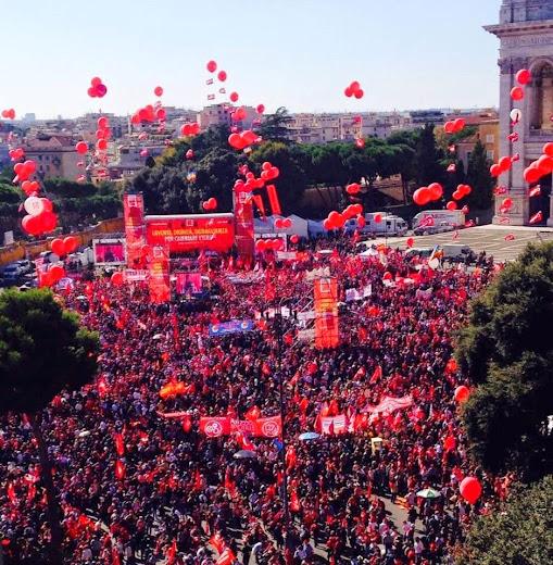 Roma - Lavoratori a S. Giovanni il 25 ottobre 2014