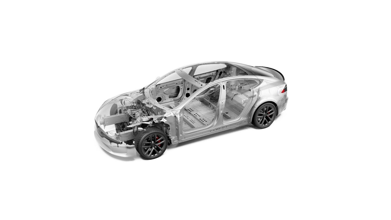 Intérieur de la voiture Tesla Model S Plaid