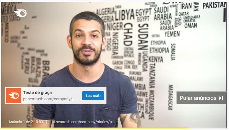 Exemplo de Anúncio de vídeo Pulável