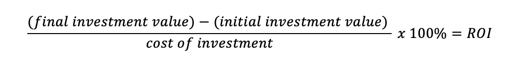 Measuring the Investment at face value