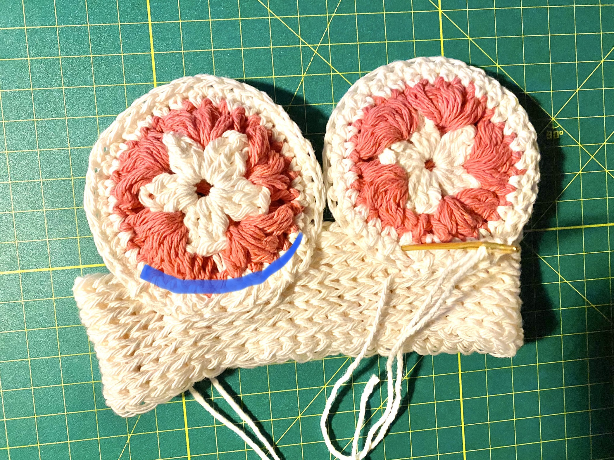 Mommy and Me crochet Mouse Ears. Baby Ear Assembly Instructions. Kelsey Jane Designs