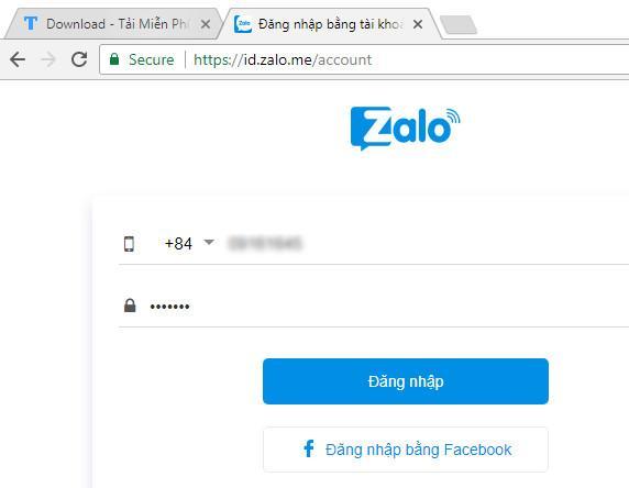 Cách đăng ký zalo web