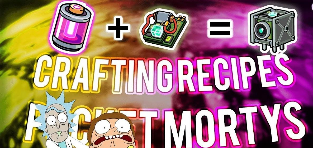 Image result for pocket morty recipes crafting cheat details