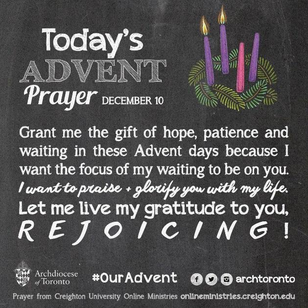 Prayer for the Second Week of Advent - Wednesday #ouradvent | Advent prayers, Christmas prayer, Advent activities
