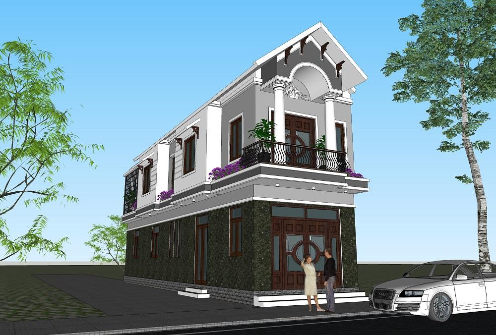 Thiết kế nhà 2 tầng hình ống phù hợp với những không gian xây dựng hẹp