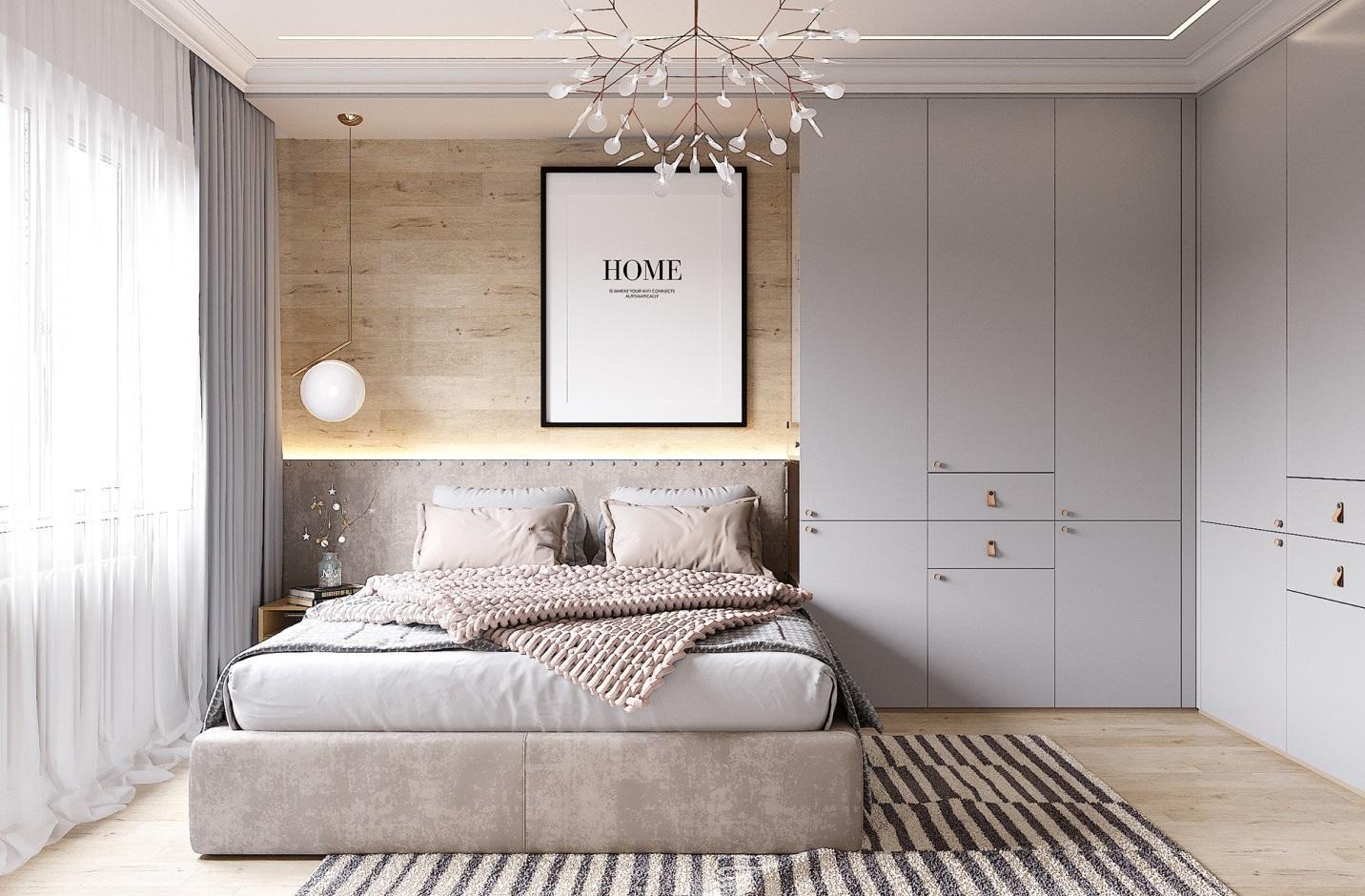 Ba nội thất chính là giường, tủ và kệ đầu giường