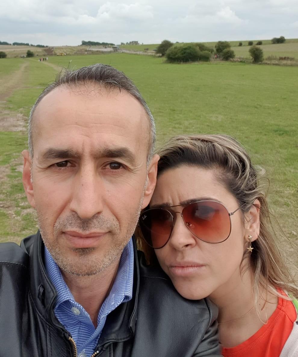Property Guardians Joelma & Murat selfie on a field