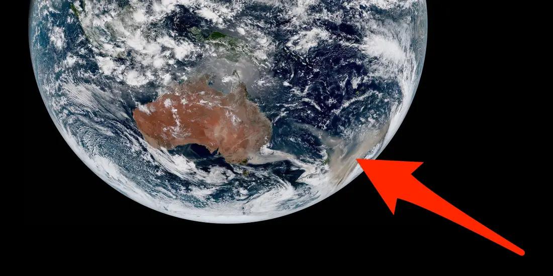 澳洲野火灰燼繞地球一圈
