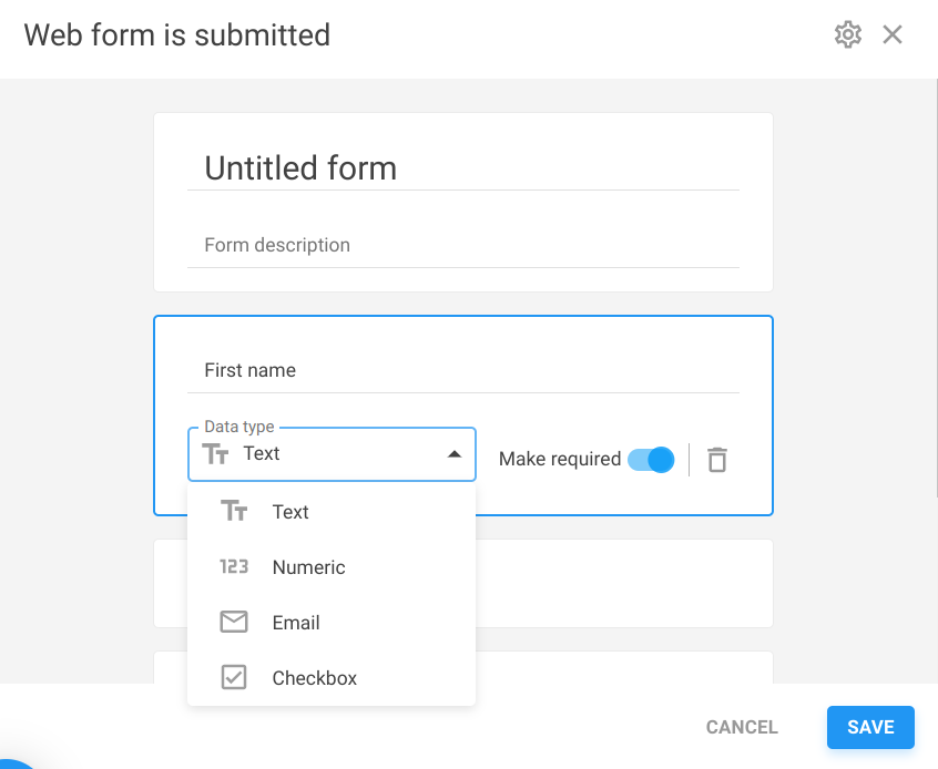 Webforms in NetHunt CRM