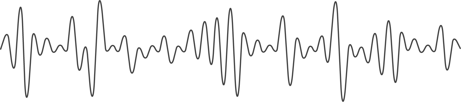 Sinusoidal wave representation of a sound