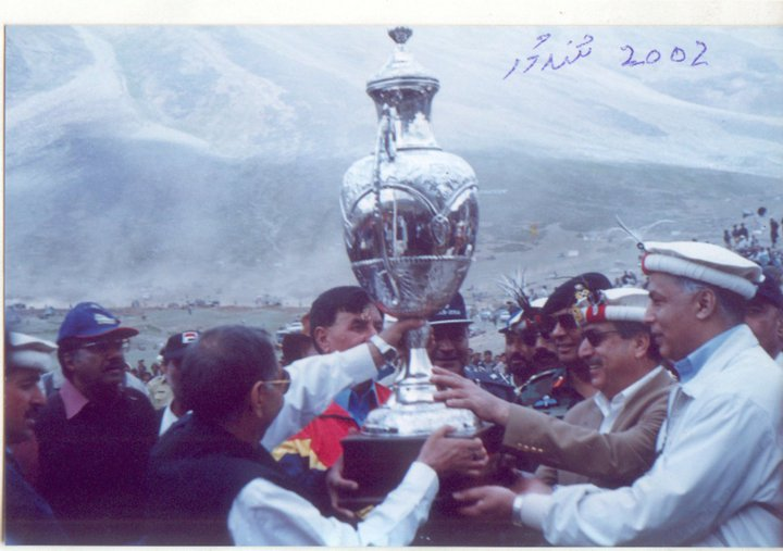 The King of Polo - Bulbul Jan holding a trophy