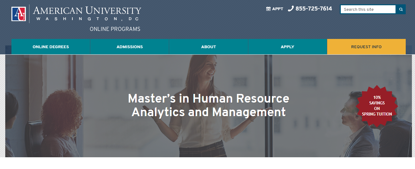 Master of Science in Human Resource Analytics and Management [American University]