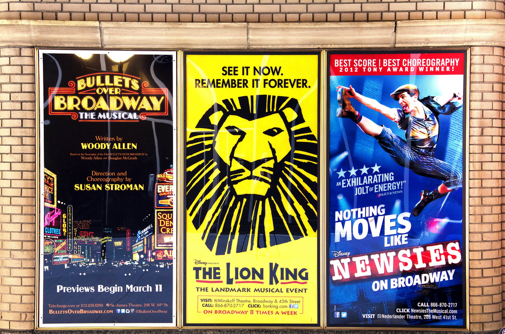 ... Broadway Posters Near the ...