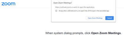 Open Zoom Meeting