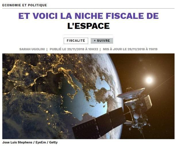 niche fiscale de l'espace - Capital