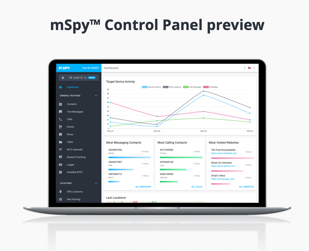 mSpy Control Panel preview