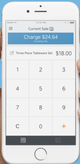 Screenshot of Square Point of Sale's application