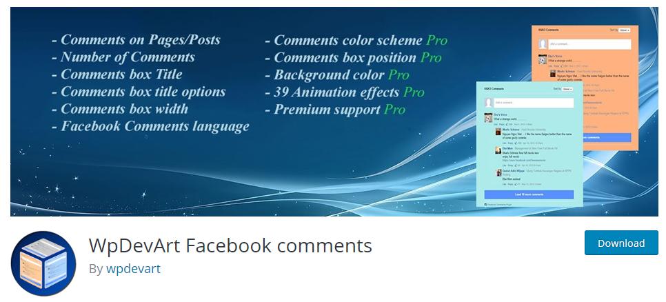 plugin wpdevart facebook comments para comentários de rede social no wordpress